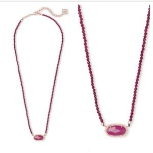 Kendra Scott Elisa beaded necklace in maroon! BNWT